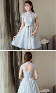 Grey Bridesmaid Dress / Evening Dress