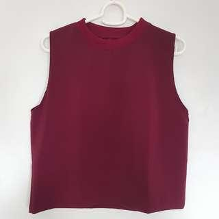 🌻FREE NM🌻 Brand New Maroon Sleeveless Top