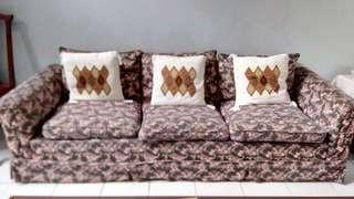 Sofa set 3 + 1 dengan coffee table
