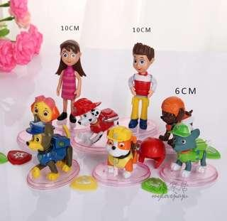 Brand New Paw Petrol 8pcs Cake Figurines / Cake Topper Set