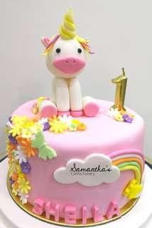 Single Tier 3D Unicorn Cake