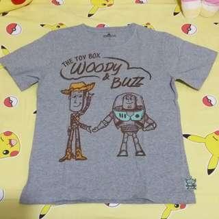 [清屋] HK Disneyland tee (toy story woody buzz aliens) 三眼仔