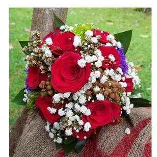Wedding/ROM hand bouquet (Red Rose)