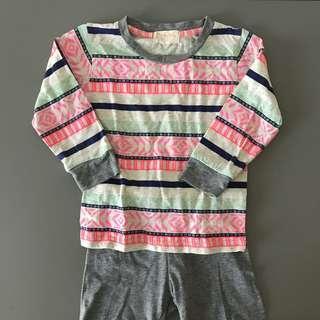 (2 yrs) Soft Mellow Baby cotton pyjamas