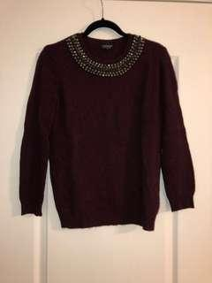 TOPSHOP studded sweater size 4