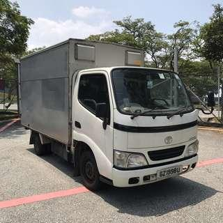 Toyota Dyna Box Lorry for rent/lease commercial