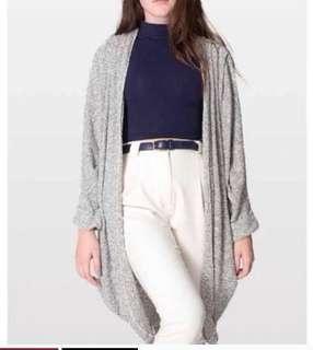 American Apparel Open Grey Sweater O/S