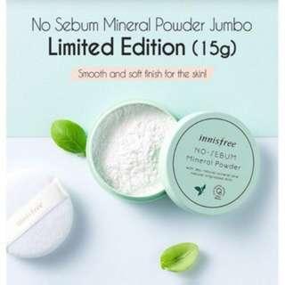 🍀Innisfree Jumbo Size No-Sebum Mineral Powder 15g