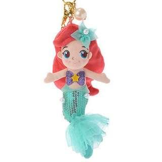 🚚 日本迪士尼Disney小美人魚亮片娃娃吊飾