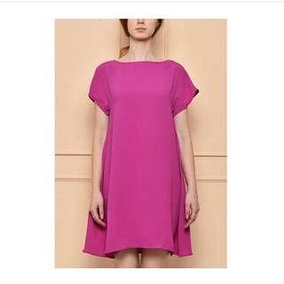loose dress fuschia