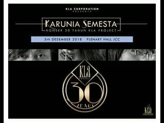 2 Tiket konser 30 tahun kla project @ Rp. 200.000