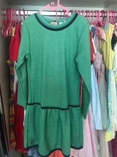 Dress hijau tangan panjang