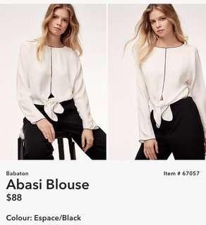Aritzia Babaton Abasi blouse