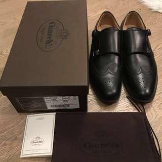 Church's Longford Black Shoes size 75 double strap monk