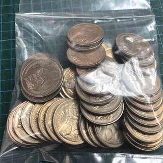 UNC 50pcs 1969 $1