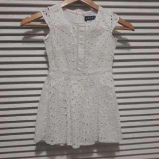 White Simple Guess Dress (21.5inches long)