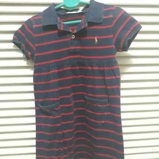 Stripes Red Blue Ralph Lauren Dress (22inches long)