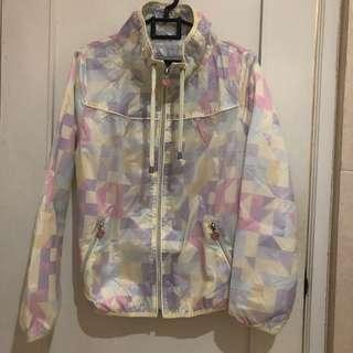 Jaket waterproof pastel