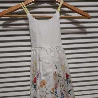 Spaghetti White Dress (18inches long)