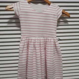 Pink Stripes Dress (21.5inches long)
