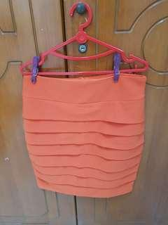 Orange skirt size s