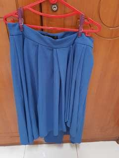 Zara blue skirt