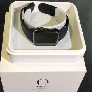 Apple Watch 2 stainless steel 有保 不鏽鋼 space black 42mm