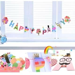 [FREE MAIL] Bentoy Happy Party Flags / Bunting / Banner / Decor