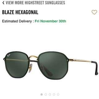 Ray-Ban Blaze Hexagonal Black