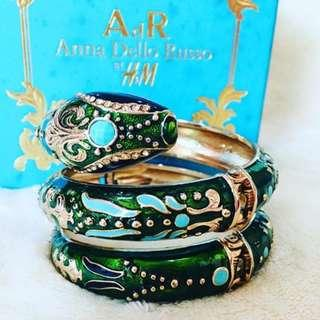 Anna Dello Russo For H&M - Green Snake Bracelet (Limited Edition)