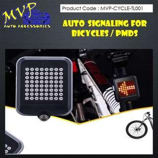 Auto Signaling Rear Lights for Bicycles and PMDs.