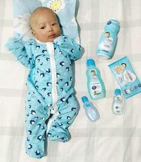 🚚 $21 for 3pcs / Baby sleepsuit with foldback mittens / premium cotton