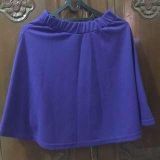 skirt electric blue