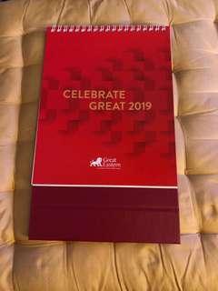 2019 great eastern calendar 📅