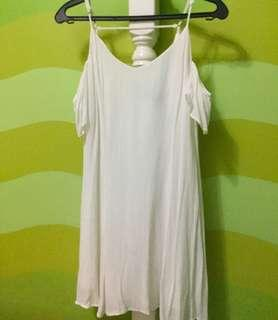 H&M Plain White Dress
