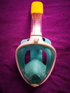 BEST DEAL! Full Face Snorkel Mask (Dry-type) Green