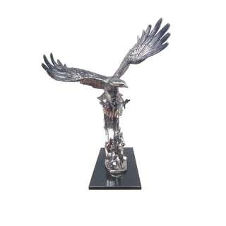 Beautiful Silver Eagle Statue with Marble Base