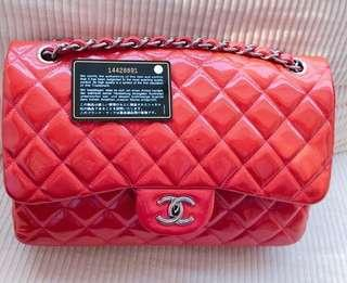Chanel patent  jumbo SHW #14 with db card holo