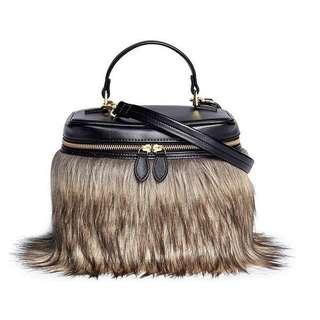 Vasic Fur Bucket Sling Bag