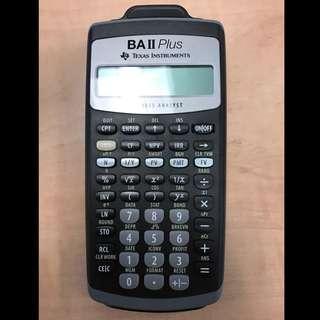 For Rent: Texas Instruments BA II Plus Financial Calculator