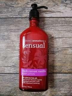 BN Auth Bath & Body Works Aromatherapy Lotion in Sensual