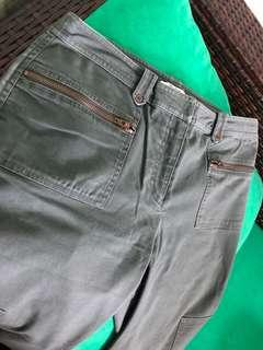 Ladies garment washed pants size L