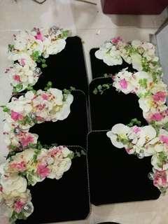 7 Tempat Letak Hantaran Barang Tunang / Kahwin (pink black theme)