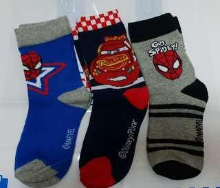 Spiderman and Cars kids Socks