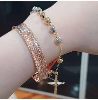 Jewelries Sparkling Bangle/Rosary Bracelet