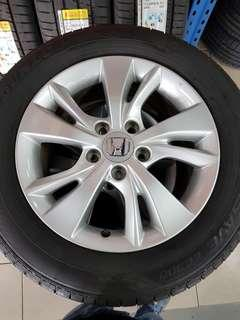 16 Inch 5x114.3 Used Original Honda Rims & Tyres