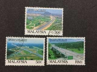 Malaysia Complete Set - 3v CTO NH Original Gum Stamps #1