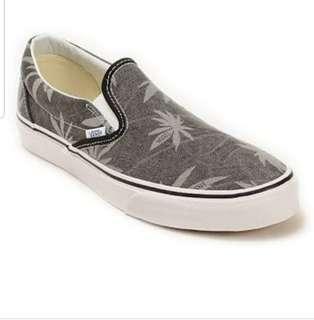 Discontinued Vans Black Denim Loafers