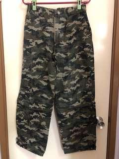 迷彩軍褲 men's/Boys/women's /Girls cotton camouflage garment washed pants/shorts two way wearing