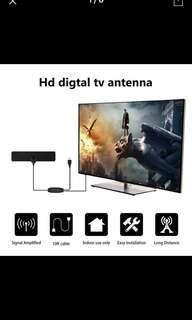 High Gain Indoor Free Digital TV Antenna 50 Miles Range HDTV TV Antenna Aerial Amplifier Signal Booster For DVB T2
